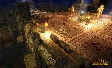Lichteffekte im Tempel von The Mummy Online
